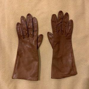 Aris tan leather gloves